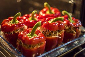 Vitaminbombe gefüllte Paprika - 4 Portionen