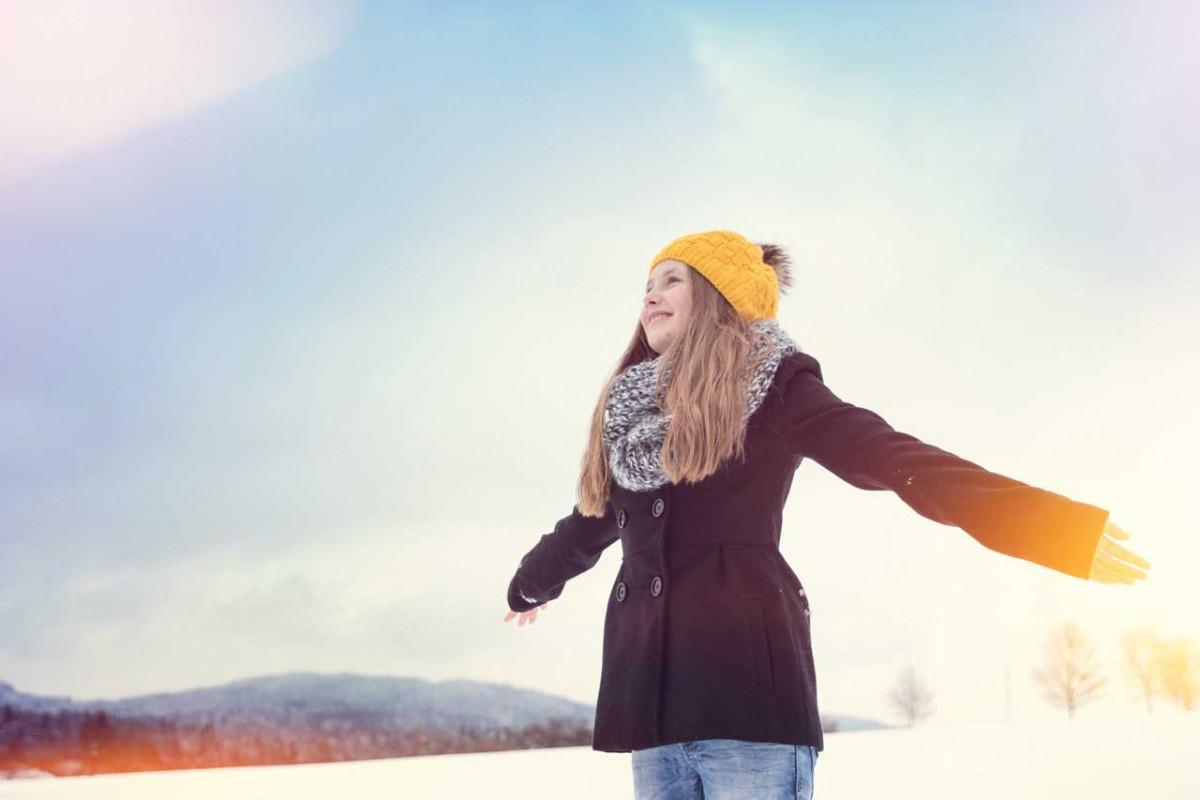 Kinder erforschen den Winter