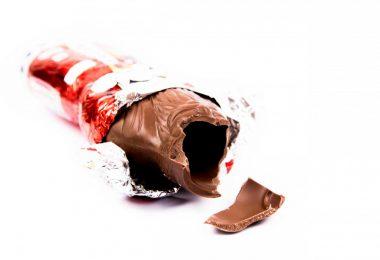 Weihnachtliche Schokoladen-Reste verwerten