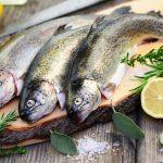 Fisch mit Fischbesteck und Fischmesser essen