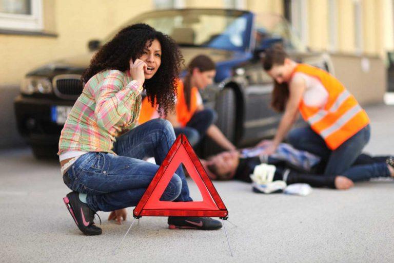 Erste-Hilfe bei einem Verkehrsunfall