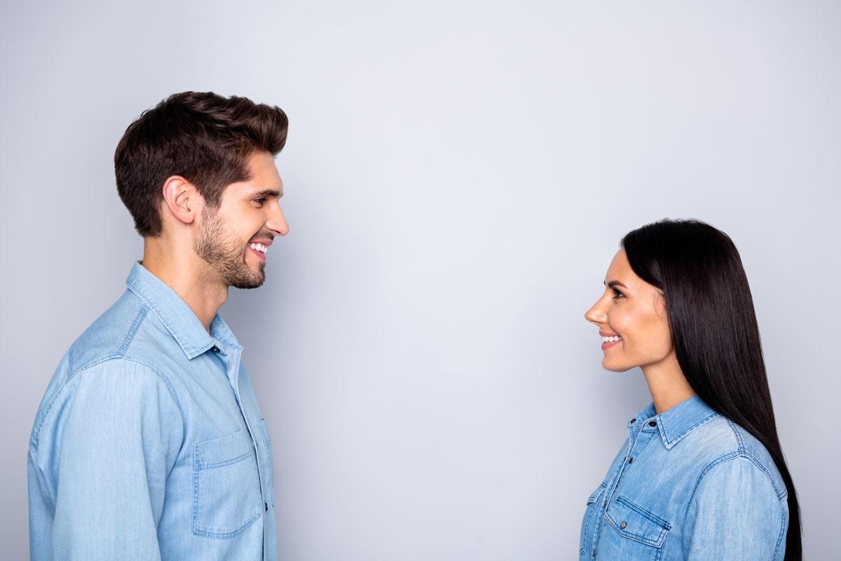 Blickkontakt: Die Übung gegen Nervosität
