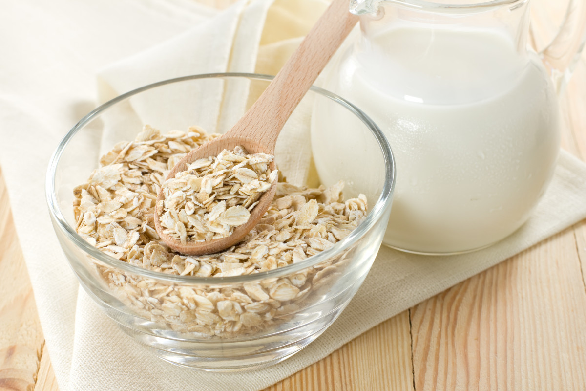 Gesunde Ernährung: Vollkorn und Milch