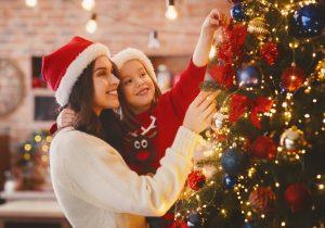 Für Weihnachten eine Filzsternkette basteln