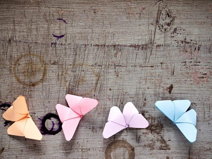 Basteln Fur Ostern Bunte Schmetterlinge