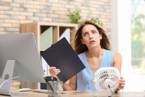 Stress im Sommer: Hitzestress am Arbeitsplatz