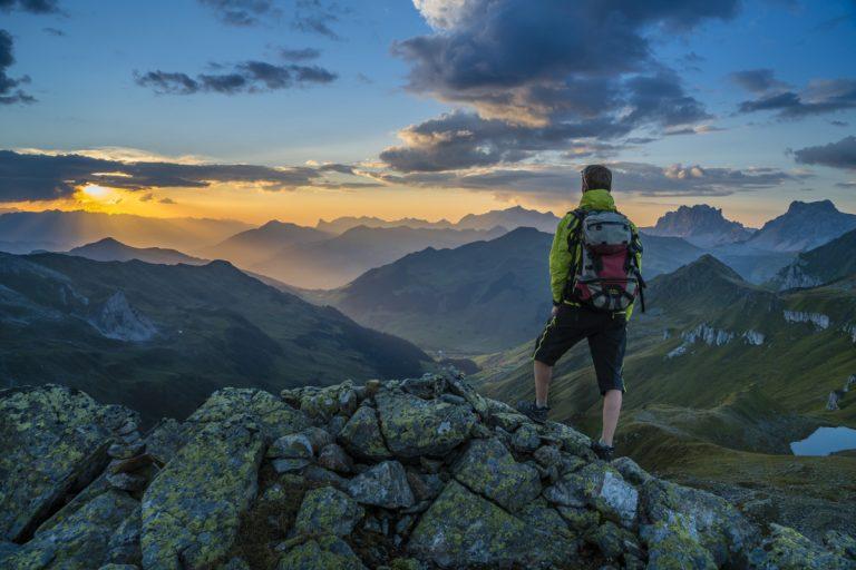 Vorsicht beim Wandern in den Bergen
