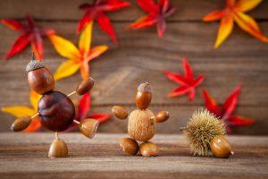 Basteln im Herbst: Bilder aus Blättern