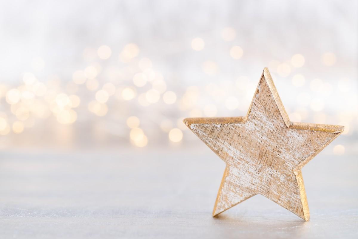 Rustikale Sterne aus Naturmaterial für Weihnachten basteln