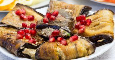 Georgisches Rezept: Aubergine mit Walnüssen und Granatapfel