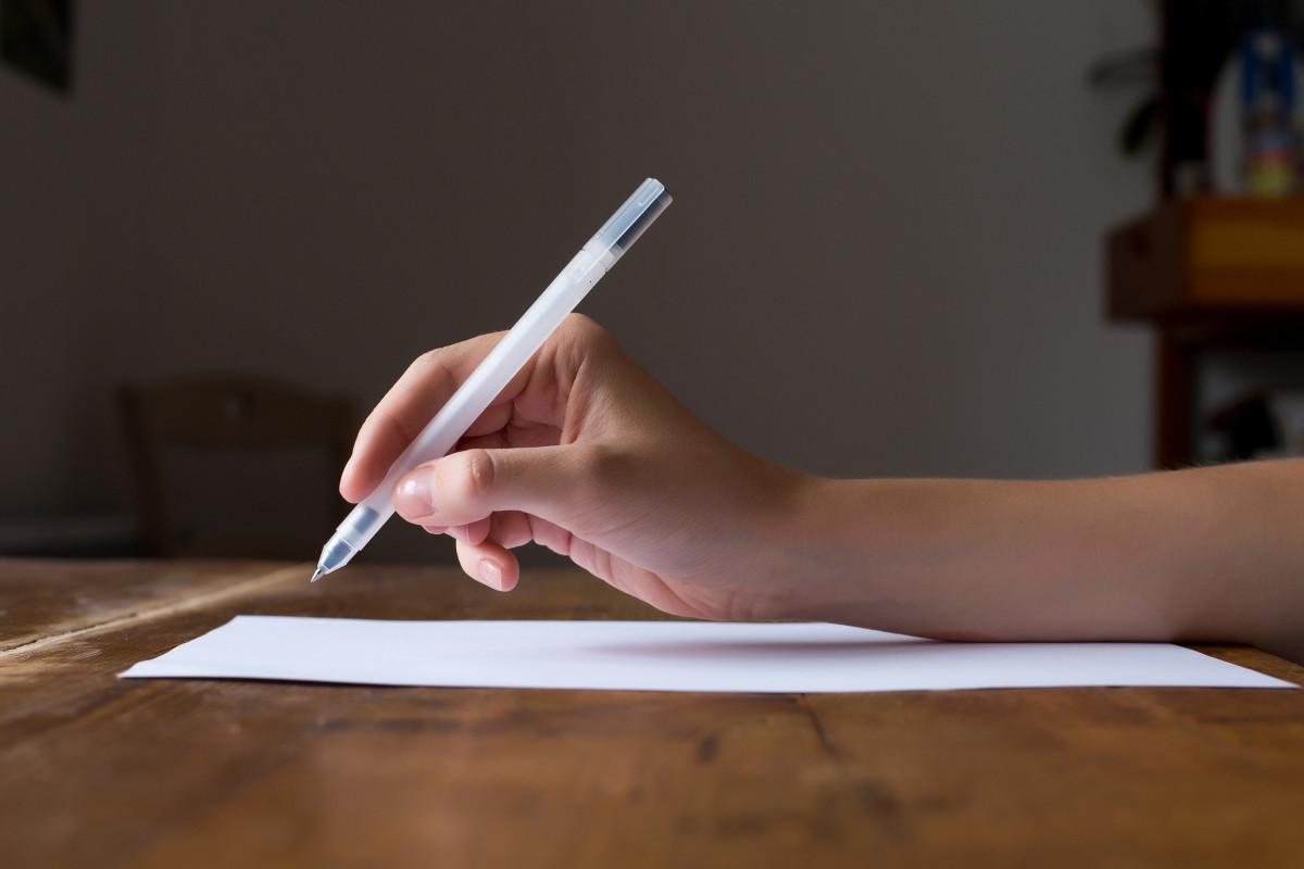Im schreibt brief groß man du Wann schreibt