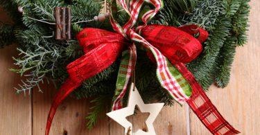Türschmuck für Weihnachten basteln