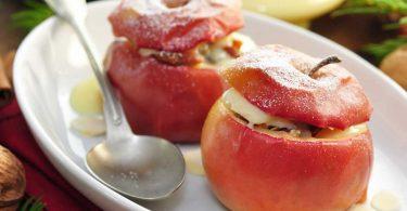 Tolles Rezept für Bratapfel mit einer leckeren Marzipan-Nuss-Füllung