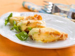 Römisches Rezept für gefüllte Zucchiniblüten (Fiori di zucchina)