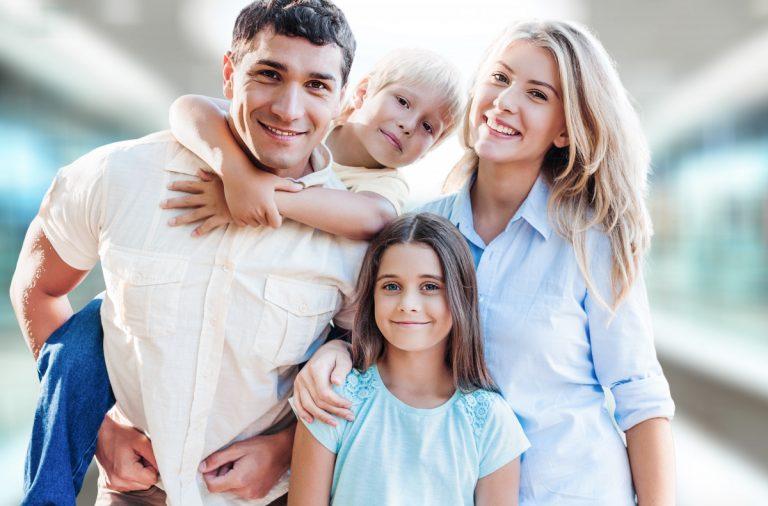 Tolle Familienfotos für das Album aufnehmen