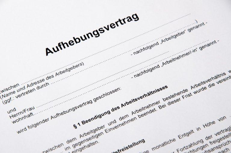 Wie reagieren bei Aufhebungsvertrag, Abwicklungsvertrag und Prozessvergleich?