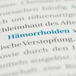 Die homöopathische Behandlung von Hämorrhoiden