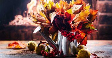 Herbstbild aus Naturmaterial basteln