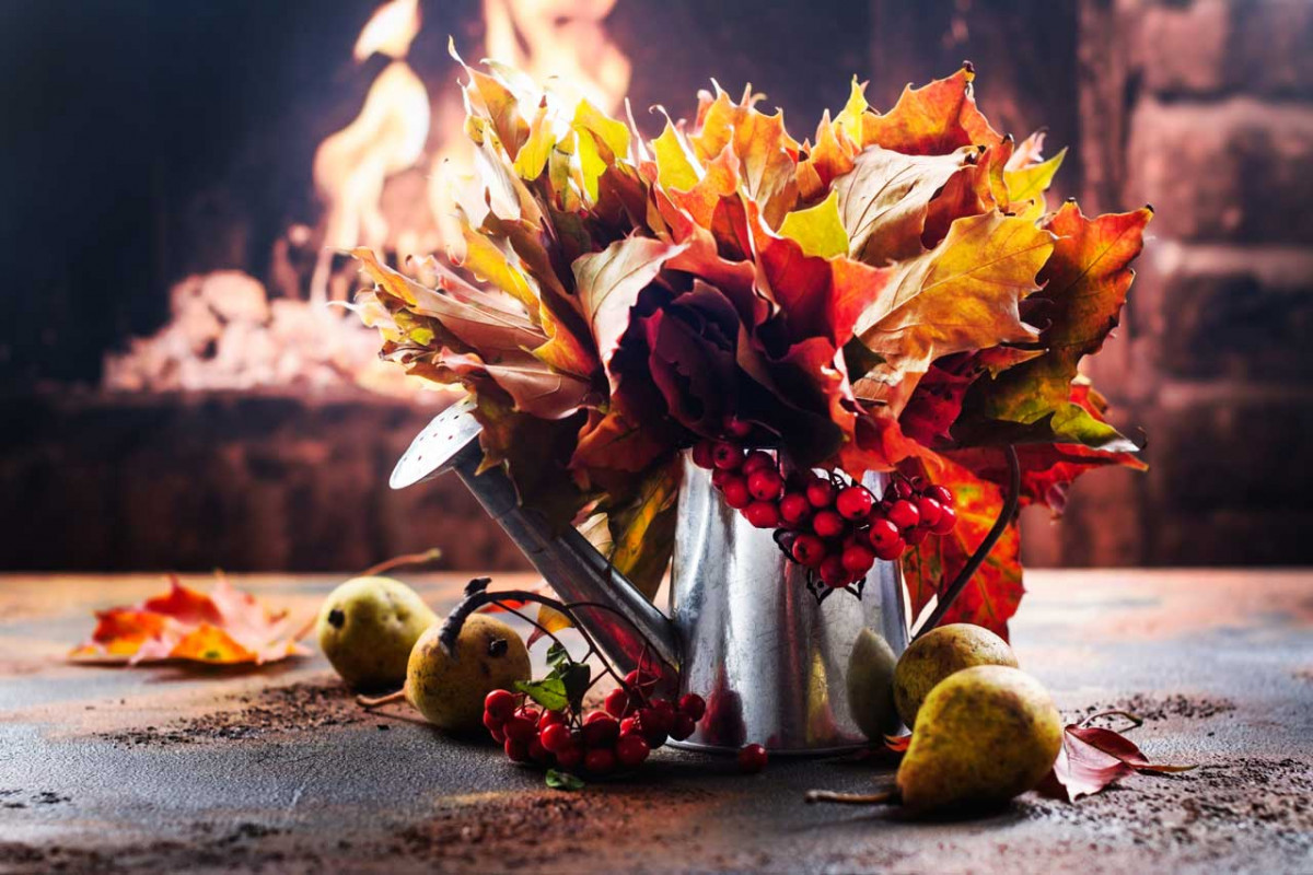 Herbstbild Aus Naturmaterial Basteln Expertode