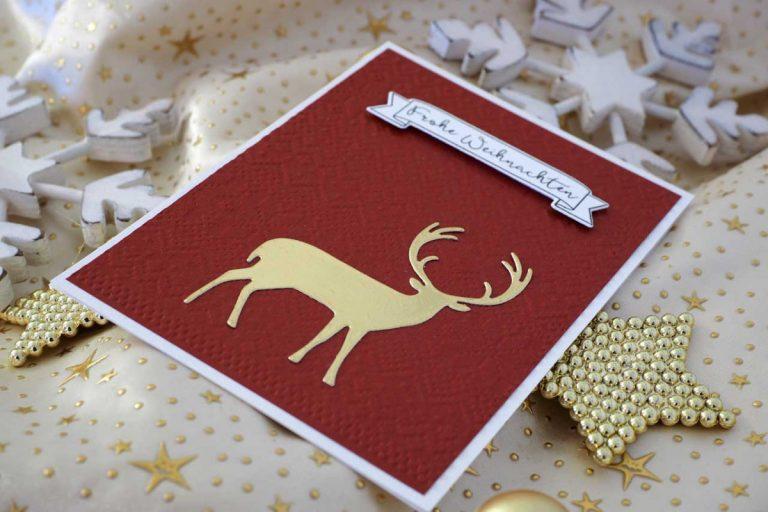 Karten basteln für Weihnachten und andere Anlässe