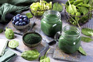 Gesundheit durch grüne Super-Foods