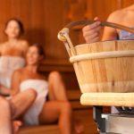 Sauna-Smalltalk im Winter