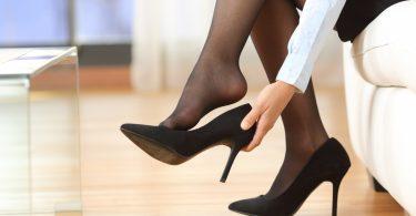 Vorbereitung auf das sichere Tragen von High Heels