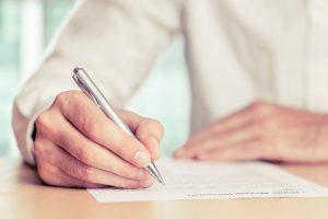 Brief an das Finanzamt schreiben