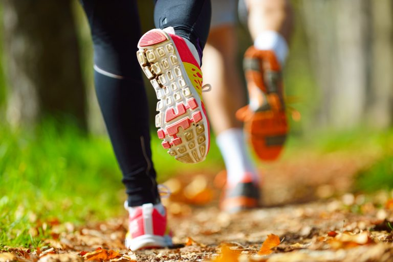 Jogging mit der richtigen Rumpfhaltung
