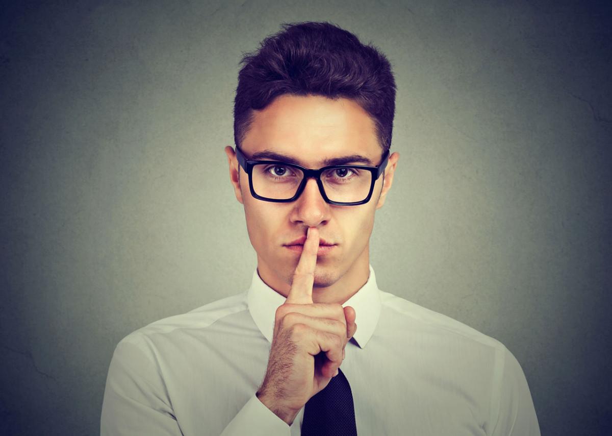 Schweigen: Halten Sie doch mal die Klappe