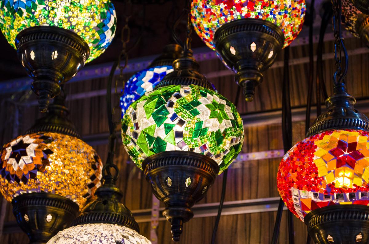 Windlicht als Mosaik - Für Sommerparty, Gartenparty oder Gartenfest