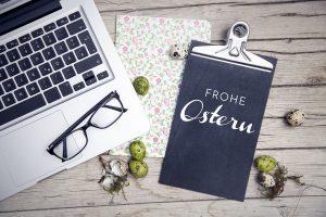 Mit Ostergrüßen Geschäftskontakte pflegen