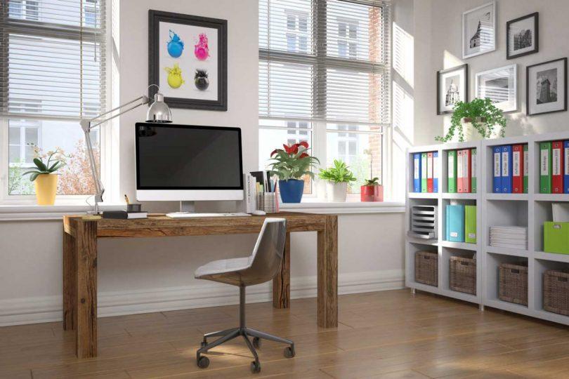 Büro einrichtungsideen  Das Büro zuhause einrichten – nur 4 Dinge benötigen Sie hierfür ...