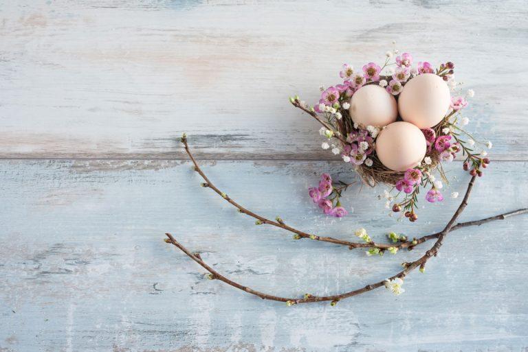 In 4 Stufen Ihren Oster- oder Frühlingsgruß perfekt aufbauen