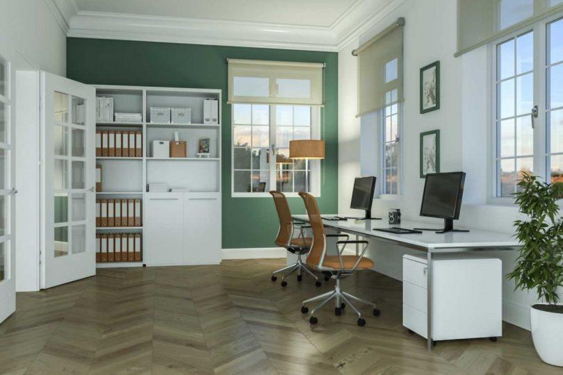 gemeinsam genutztes arbeitszimmer beide personen k nnen. Black Bedroom Furniture Sets. Home Design Ideas
