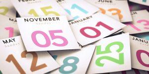 Immer wieder gebraucht: dekorative Kalender für Ihre Planungsfolien