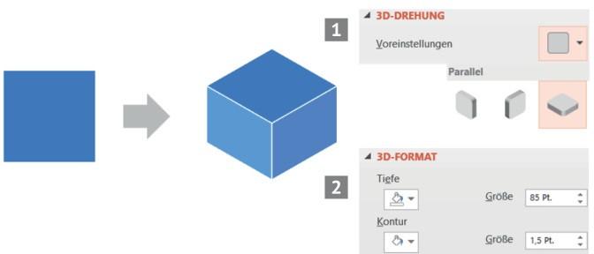 Quick & easy: Mit animierten Würfeln Phasen oder Paketlösungen vorstellen