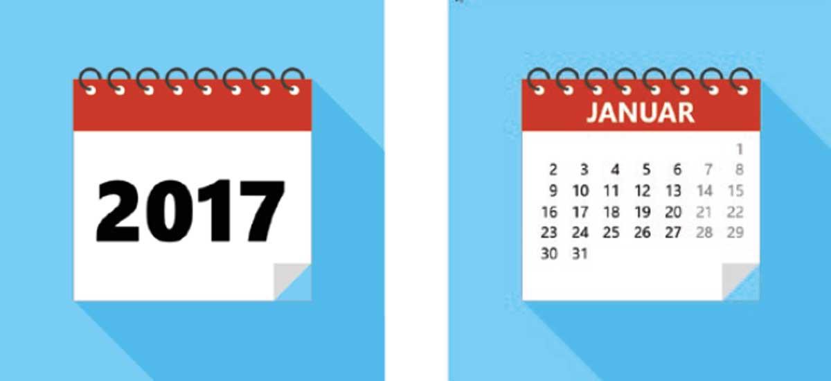 Immer wieder gebraucht: Dekorative Kalender für Ihre Planungs-Folien