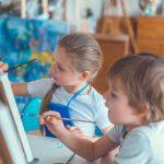 Spiele für den Kindergeburtstag: ein besonderer Maltisch