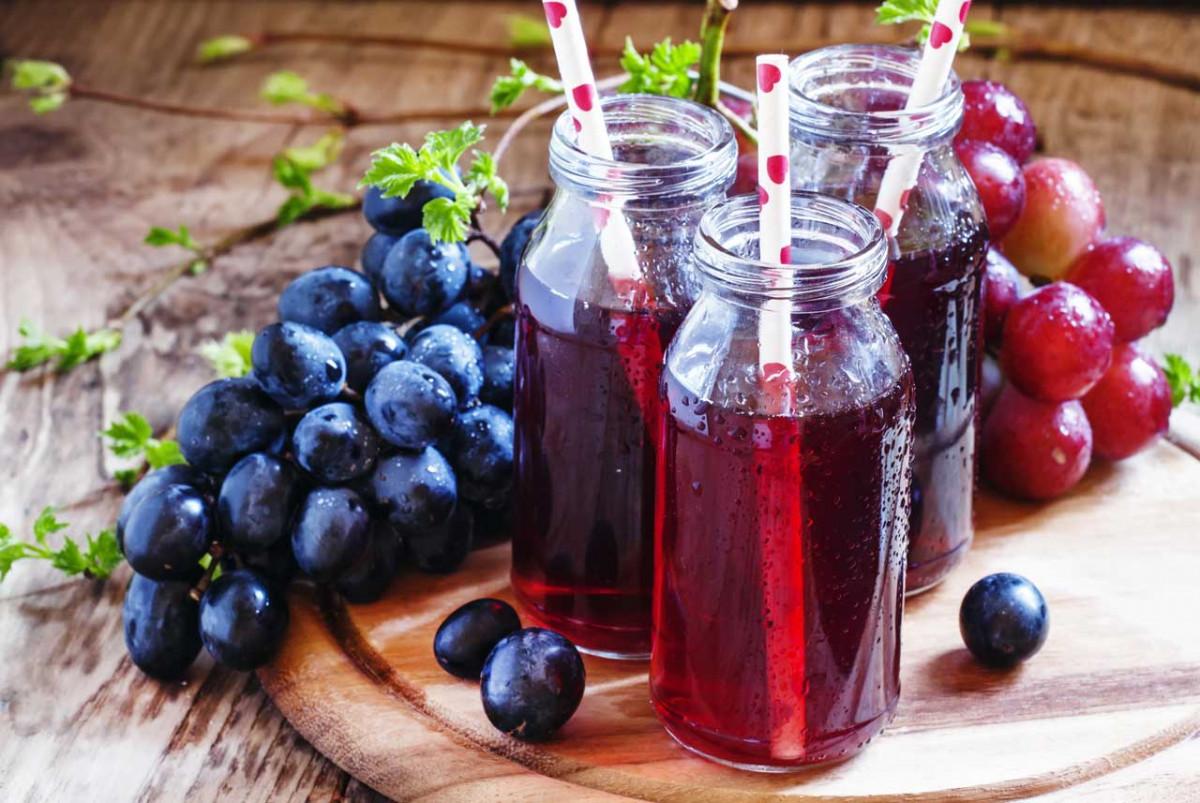 Traubensaft und Weintraubengelee – so geht es auch ohne Entsafter