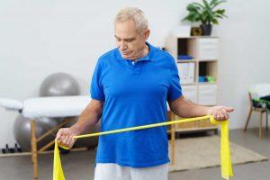 Theraband-Übungen für Bauch, Beine und Po