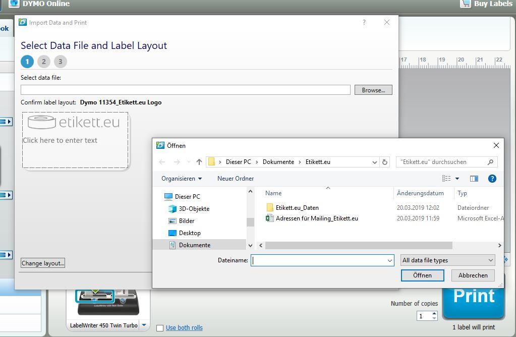 Seriendruck von Adressetiketten mit einem DYMO LabelWriter und Excel - Eine Schritt für Schritt-Anleitung
